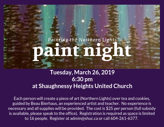 Adult Study: Paint Night!